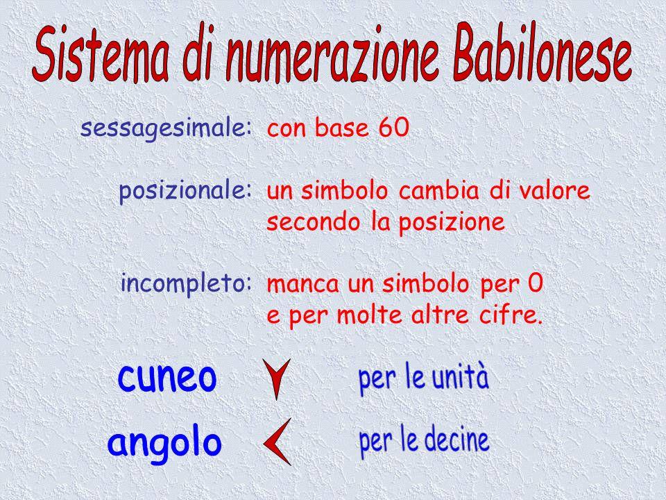 Sistema di numerazione Babilonese
