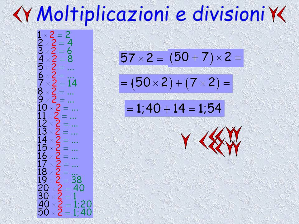 Moltiplicazioni e divisioni