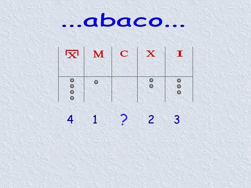 ...abaco... X M C X I 4 1 2 3
