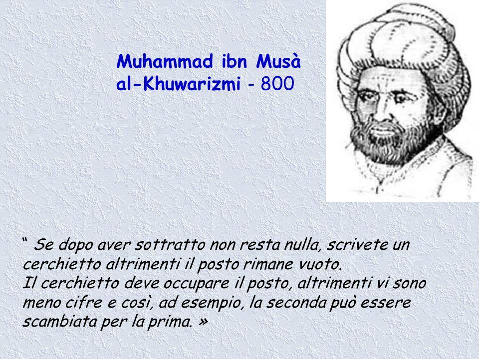 Muhammad ibn Musà al-Khuwarizmi - 800
