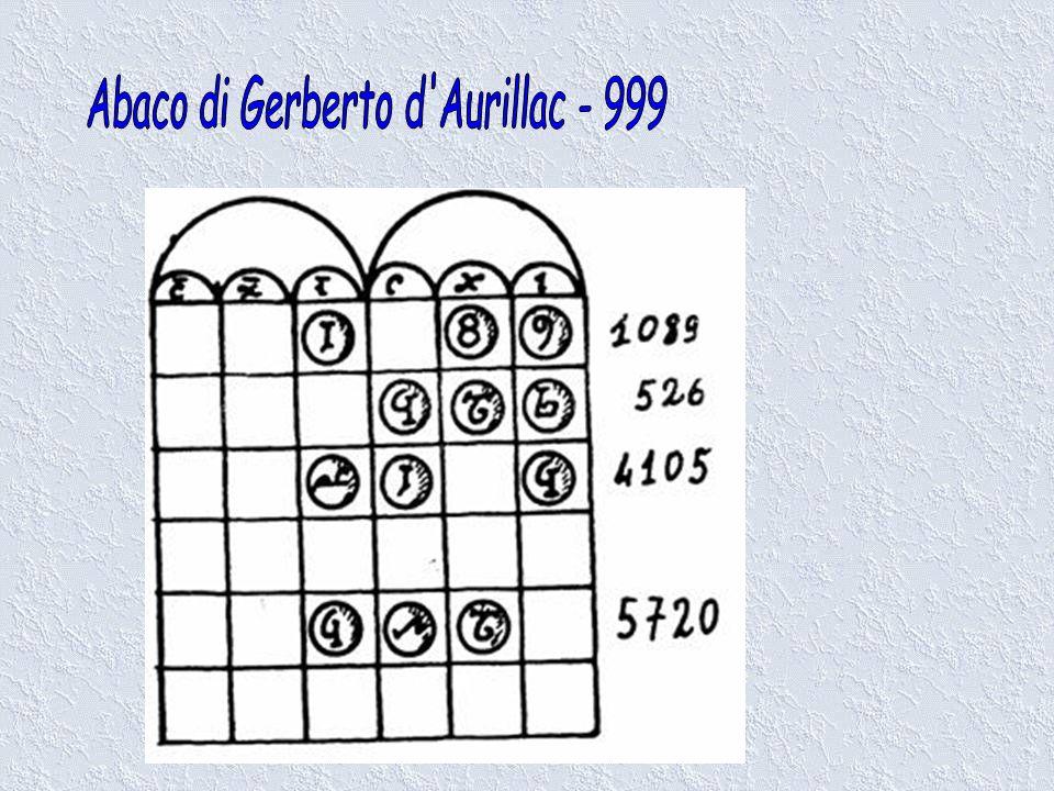 Abaco di Gerberto d Aurillac - 999