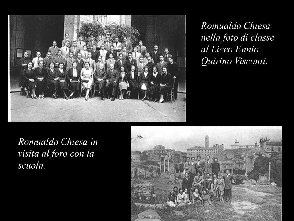 Romualdo Chiesa nella foto di classe al Liceo Ennio Quirino Visconti.