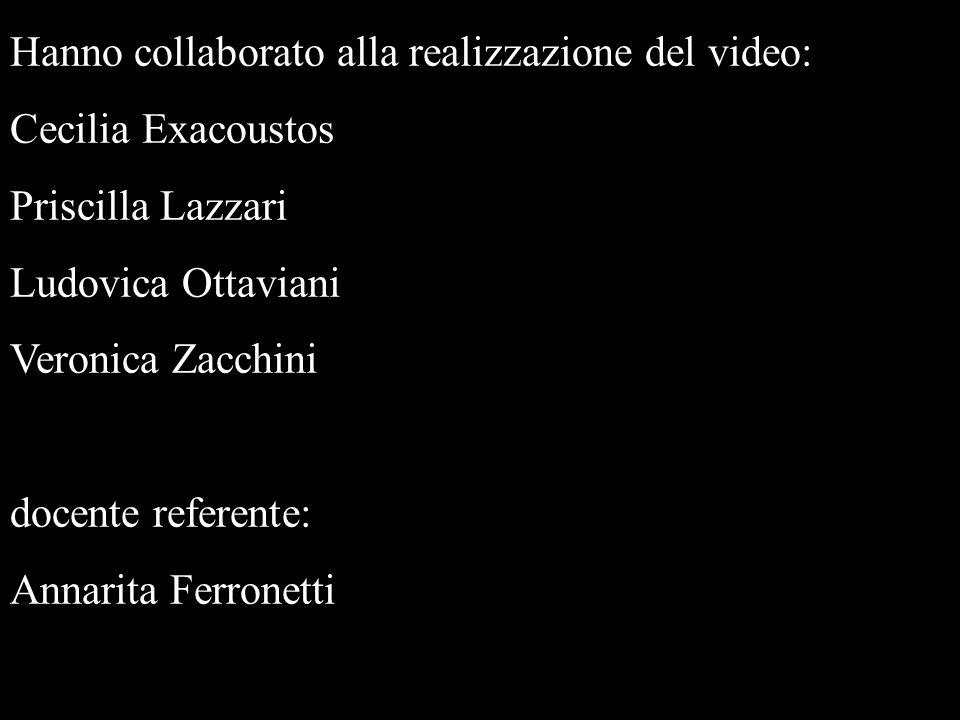 Hanno collaborato alla realizzazione del video: