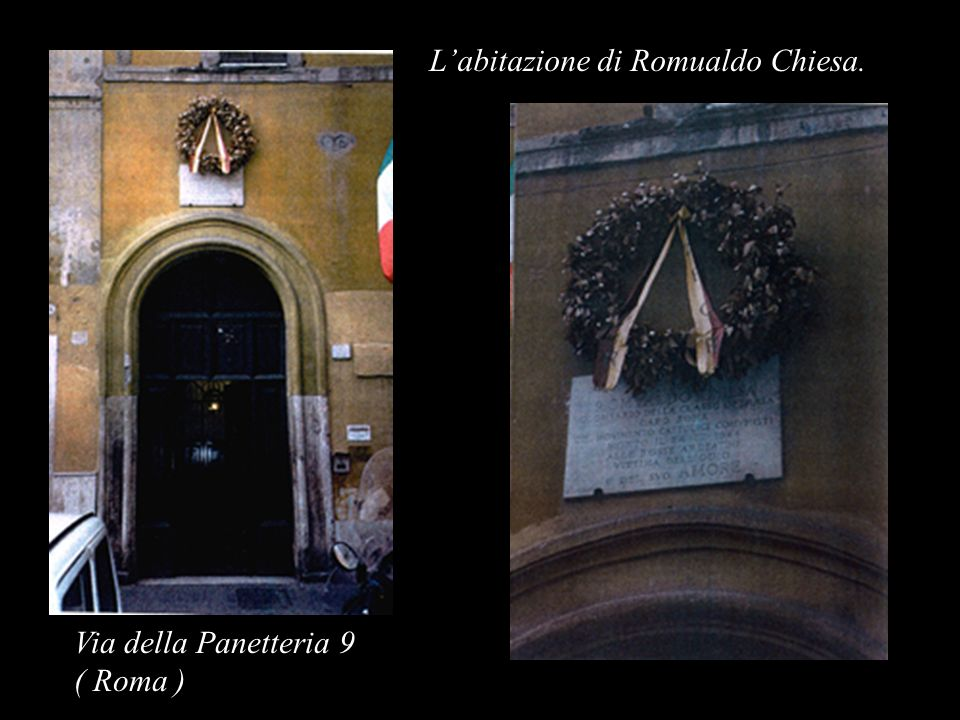 L'abitazione di Romualdo Chiesa.