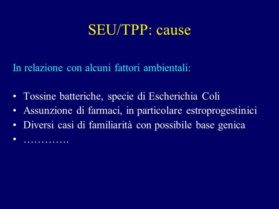 SEU/TPP: cause In relazione con alcuni fattori ambientali: