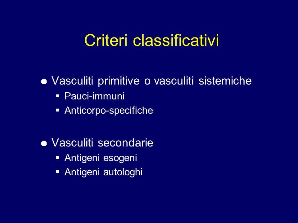 Criteri classificativi