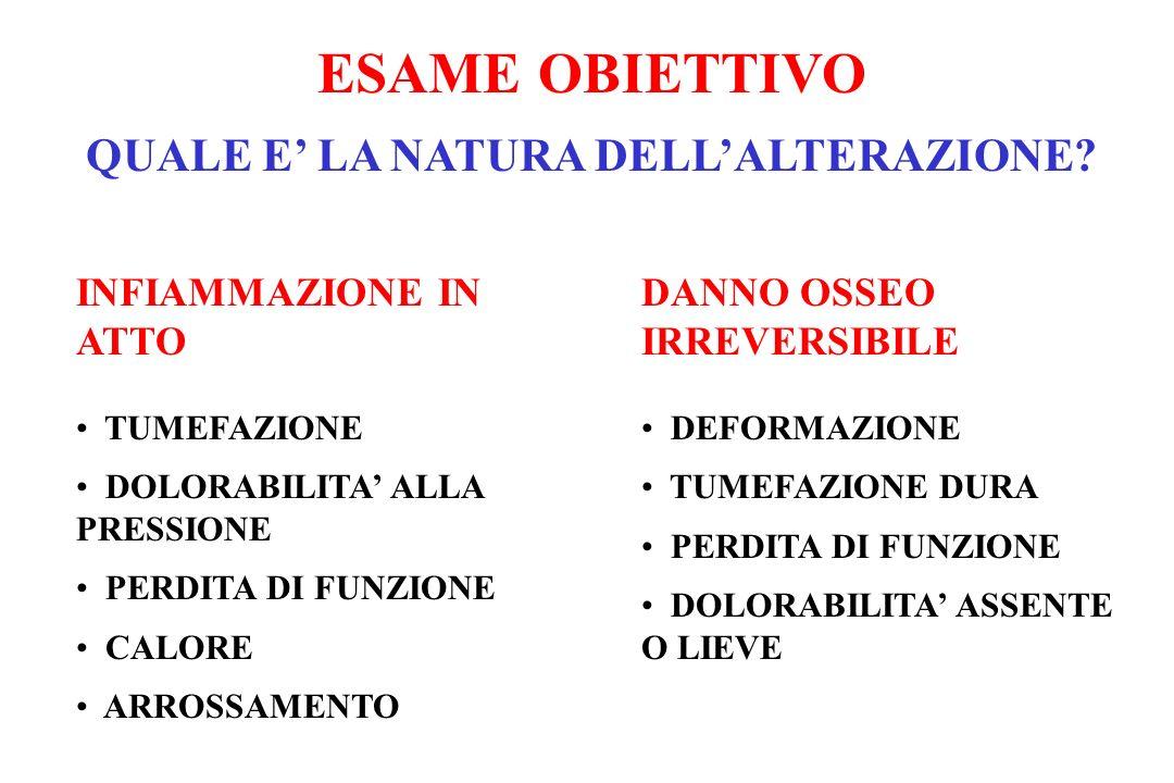 ESAME OBIETTIVO QUALE E' LA NATURA DELL'ALTERAZIONE