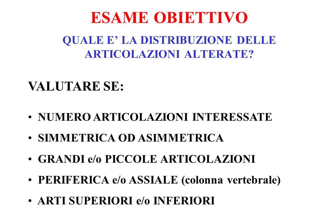 ESAME OBIETTIVO QUALE E' LA DISTRIBUZIONE DELLE ARTICOLAZIONI ALTERATE