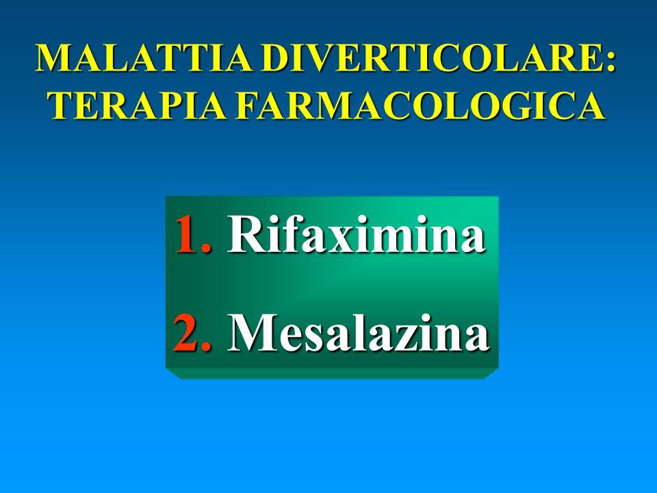 MALATTIA DIVERTICOLARE: TERAPIA FARMACOLOGICA