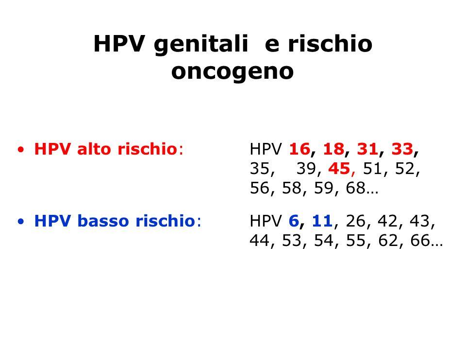HPV genitali e rischio oncogeno