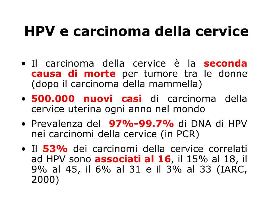 HPV e carcinoma della cervice