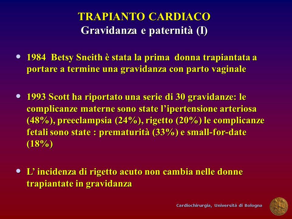 TRAPIANTO CARDIACO Gravidanza e paternità (I)
