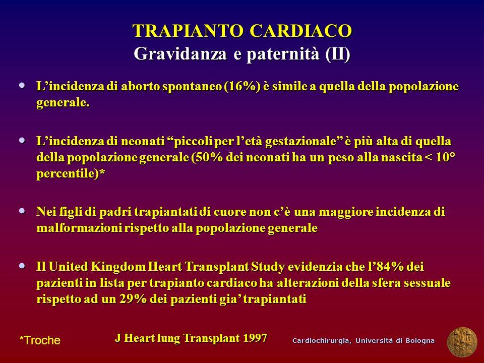 TRAPIANTO CARDIACO Gravidanza e paternità (II)