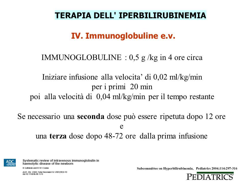 TERAPIA DELL IPERBILIRUBINEMIA