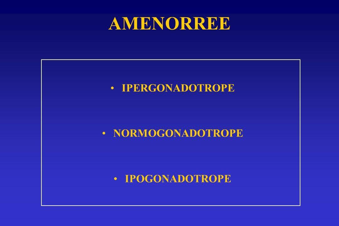 AMENORREE IPERGONADOTROPE NORMOGONADOTROPE IPOGONADOTROPE