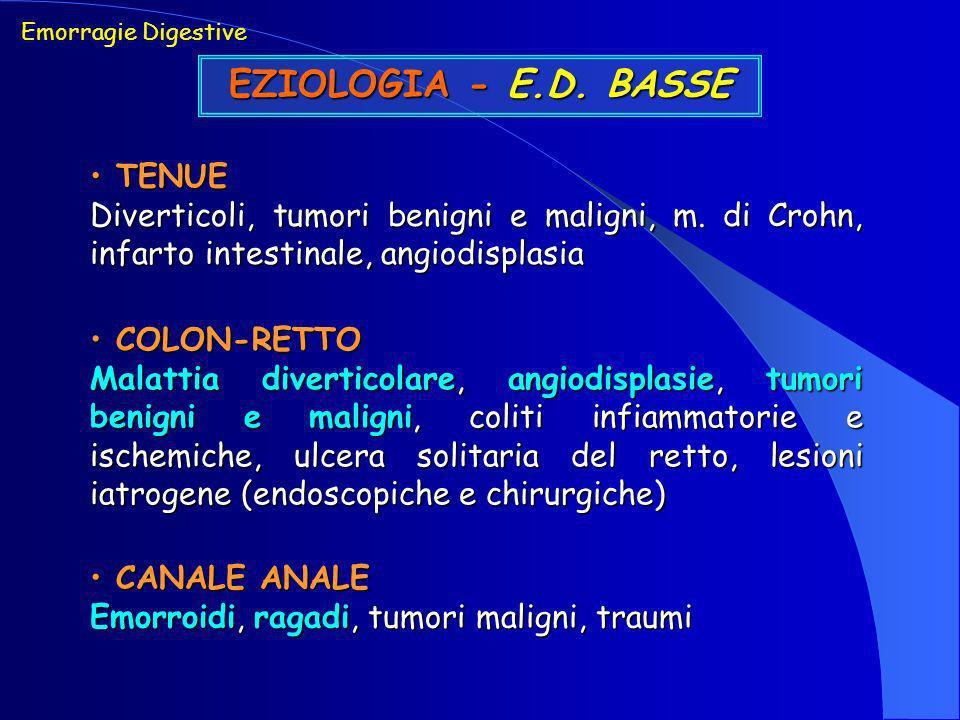 EZIOLOGIA - E.D. BASSE TENUE