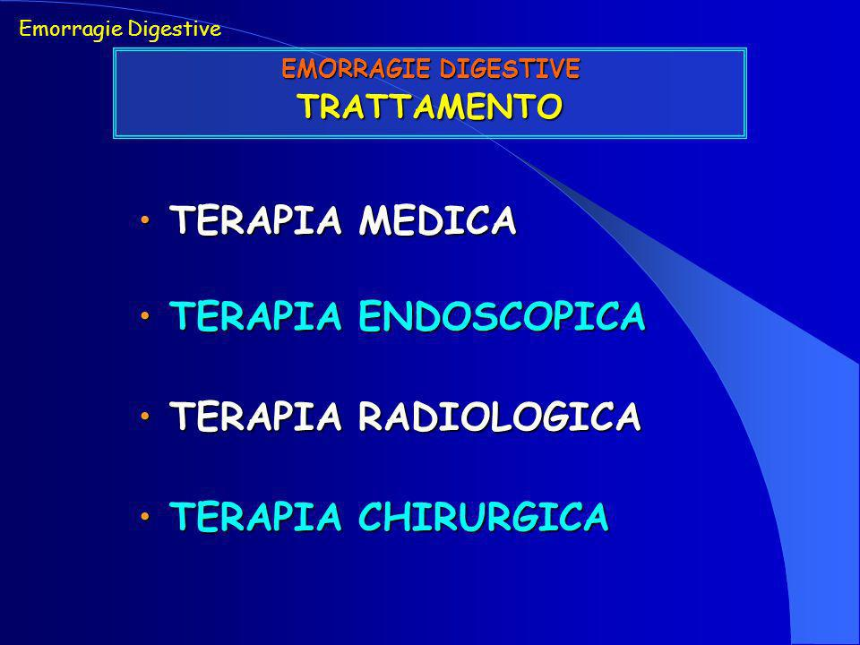 TERAPIA MEDICA TERAPIA ENDOSCOPICA TERAPIA RADIOLOGICA