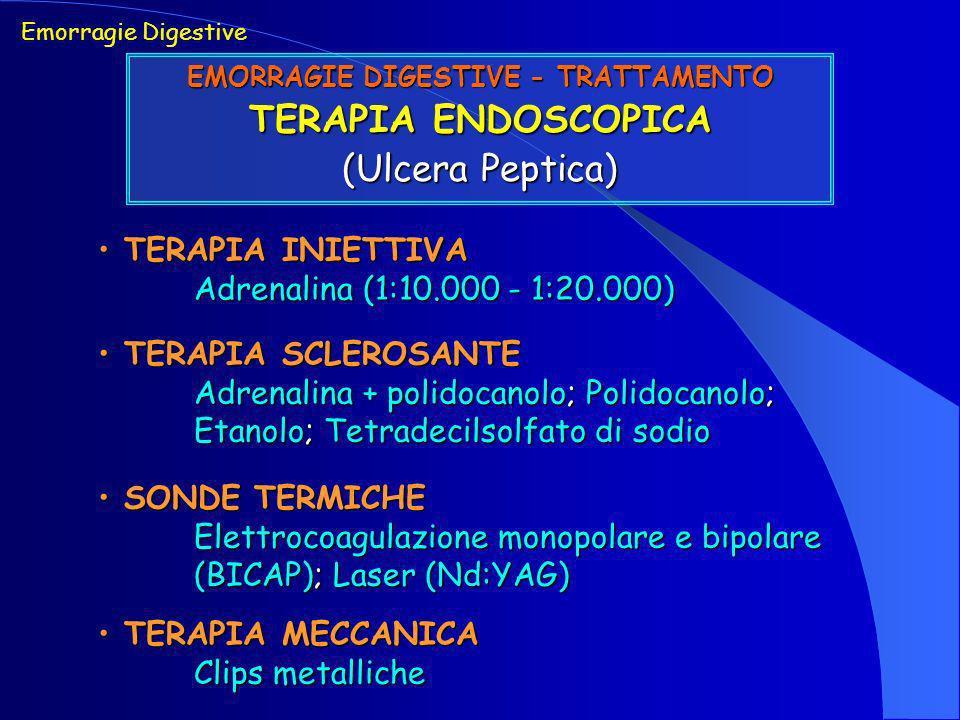 EMORRAGIE DIGESTIVE - TRATTAMENTO