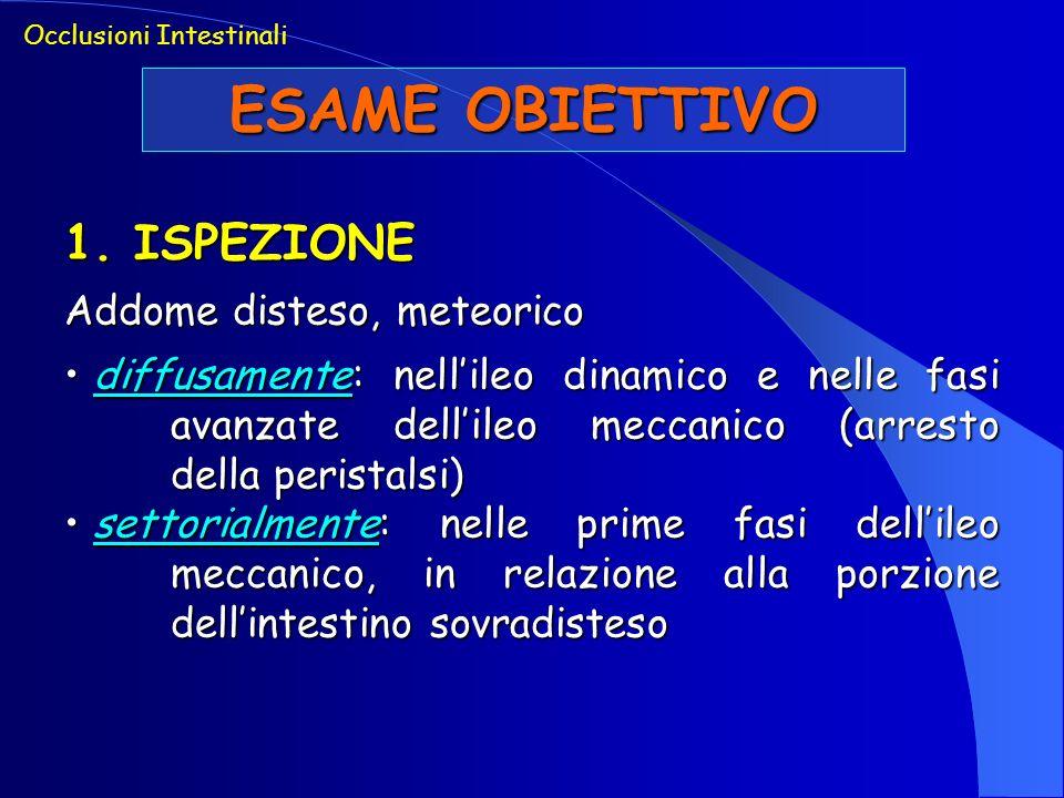 ESAME OBIETTIVO 1. ISPEZIONE Addome disteso, meteorico