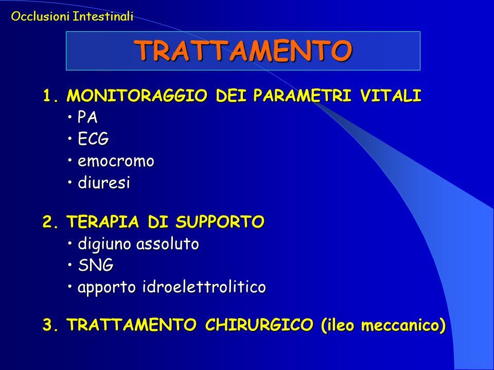 TRATTAMENTO 1. MONITORAGGIO DEI PARAMETRI VITALI PA ECG emocromo