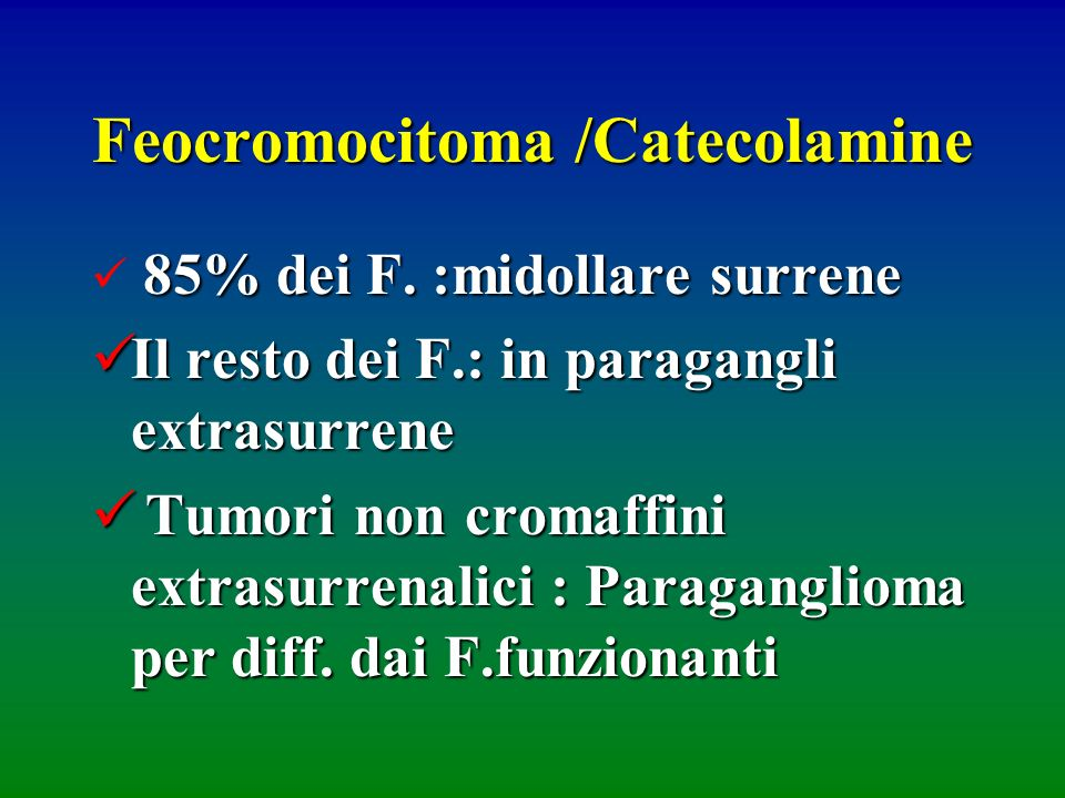 Feocromocitoma /Catecolamine