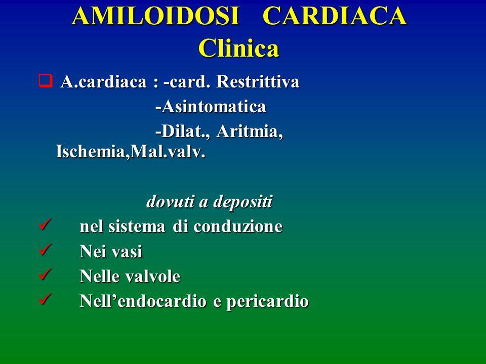 AMILOIDOSI CARDIACA Clinica