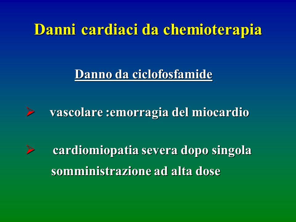 Danni cardiaci da chemioterapia