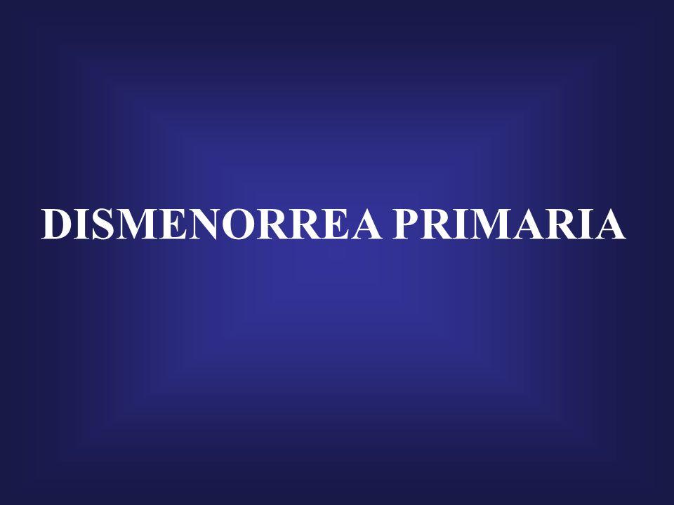 DISMENORREA PRIMARIA