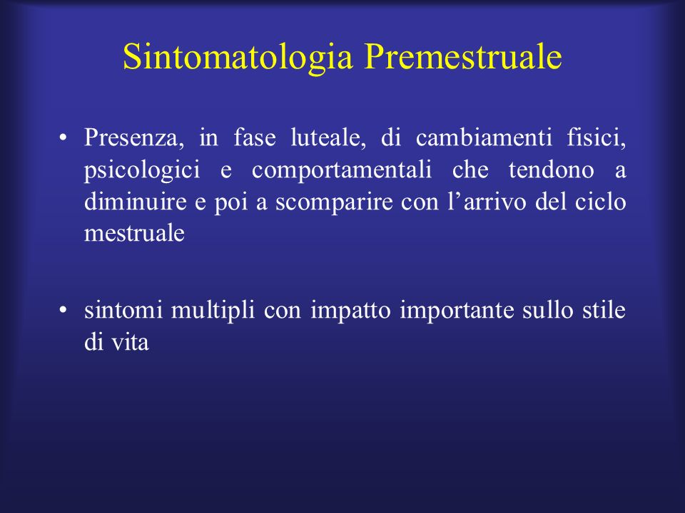 Sintomatologia Premestruale