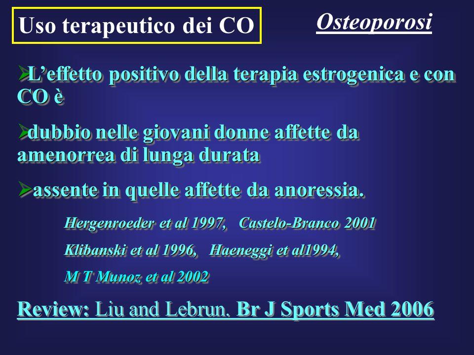 Osteoporosi Uso terapeutico dei CO