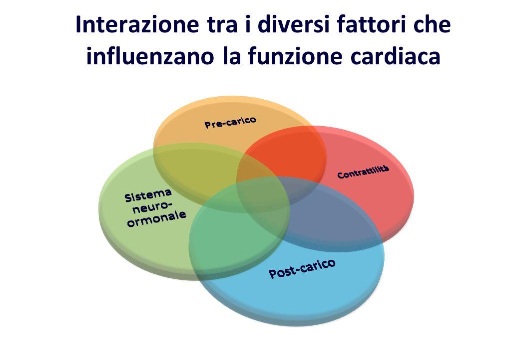 Interazione tra i diversi fattori che influenzano la funzione cardiaca