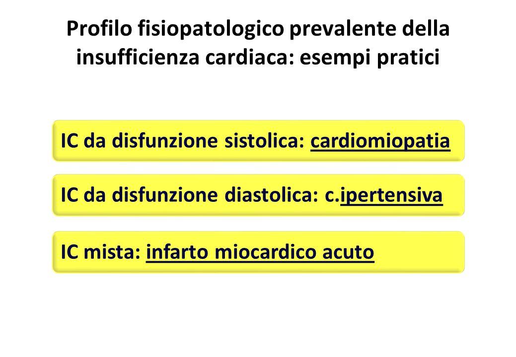 Profilo fisiopatologico prevalente della insufficienza cardiaca: esempi pratici