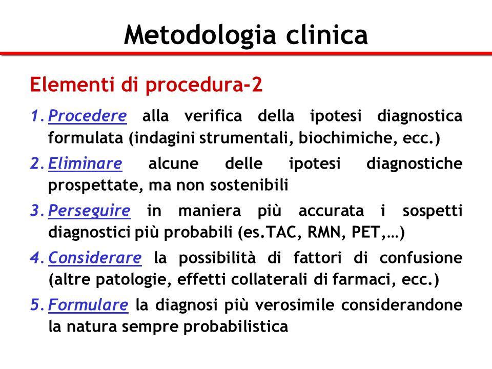 Metodologia clinica Elementi di procedura-2