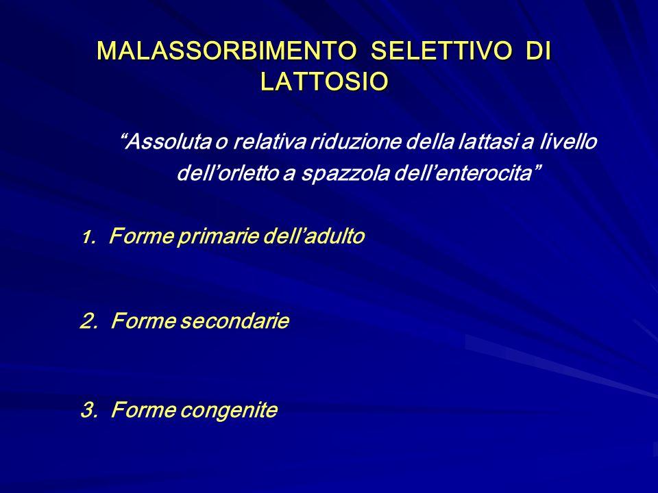 MALASSORBIMENTO SELETTIVO DI LATTOSIO