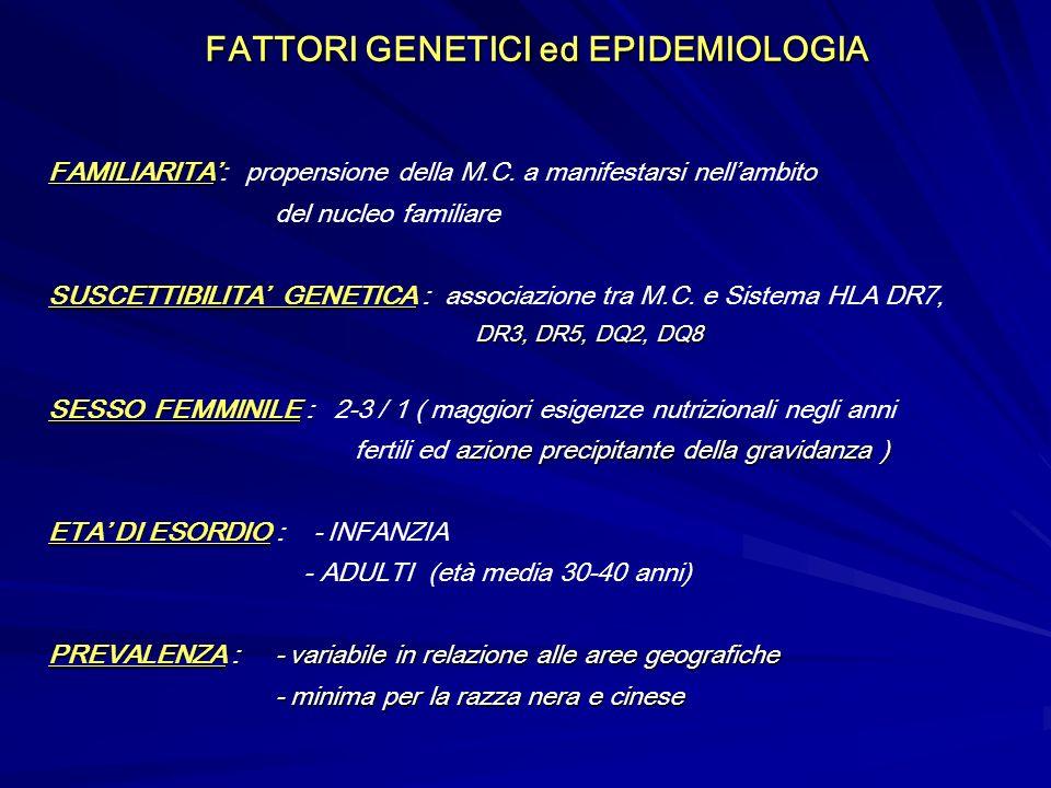 FATTORI GENETICI ed EPIDEMIOLOGIA