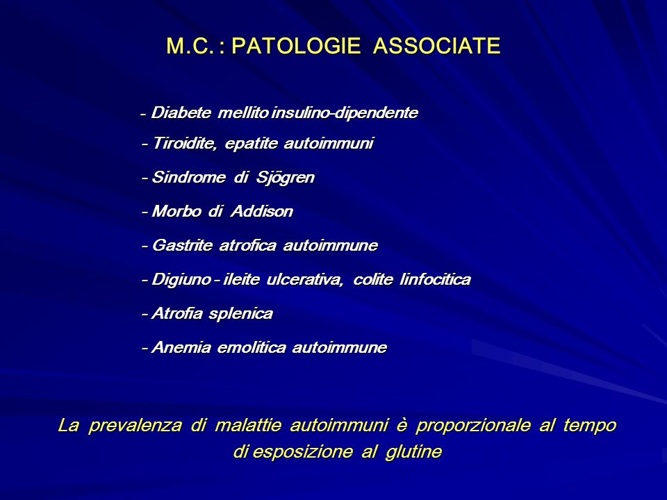 M.C. : PATOLOGIE ASSOCIATE