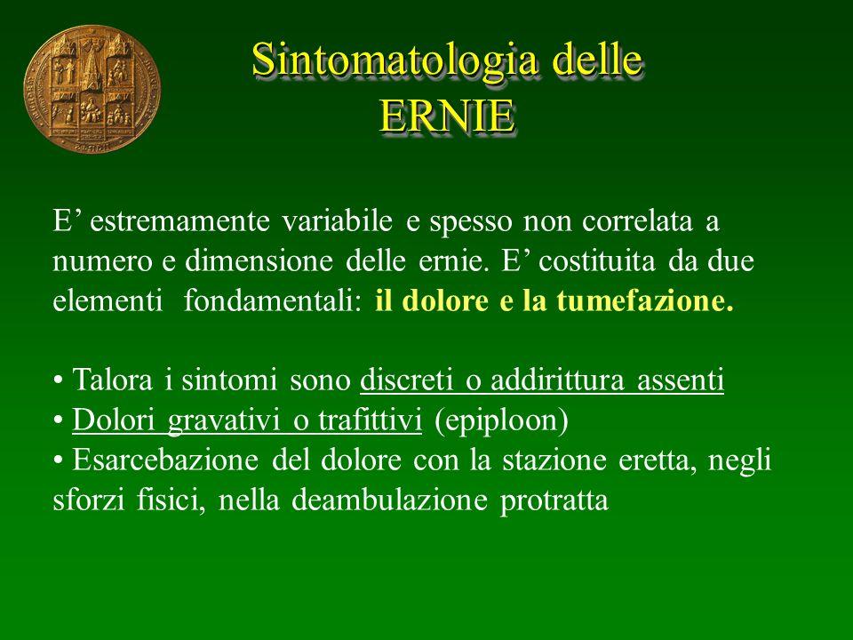 Sintomatologia delle ERNIE