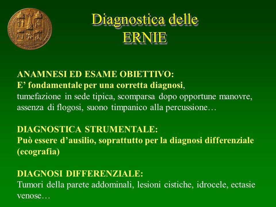 Diagnostica delle ERNIE ANAMNESI ED ESAME OBIETTIVO: