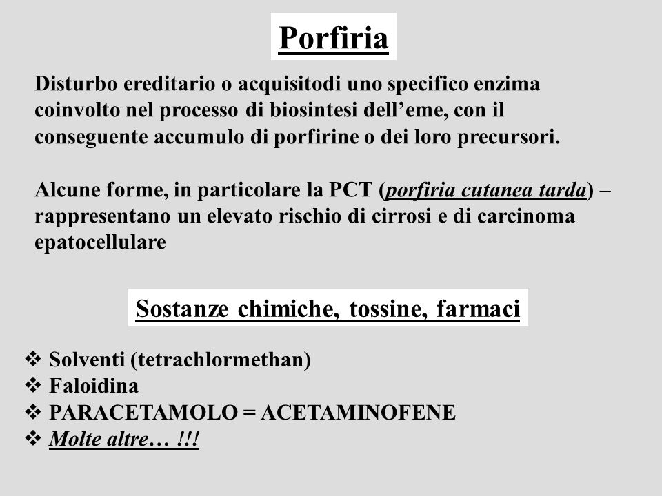 Sostanze chimiche, tossine, farmaci