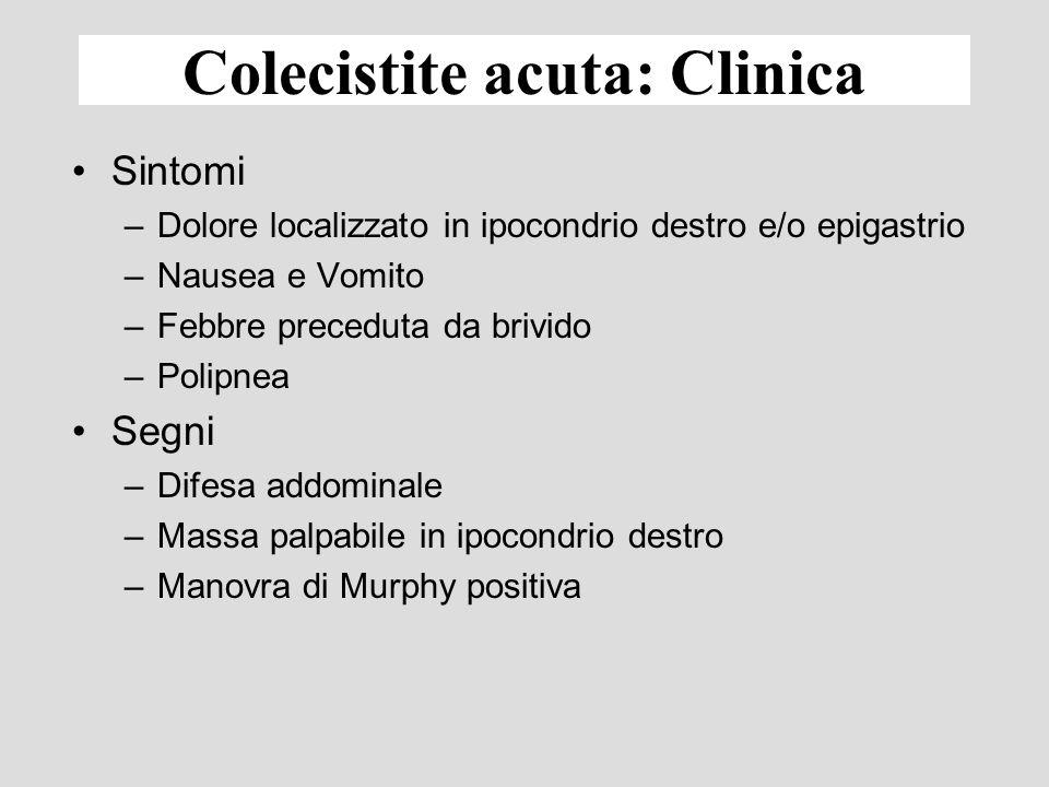 Colecistite acuta: Clinica