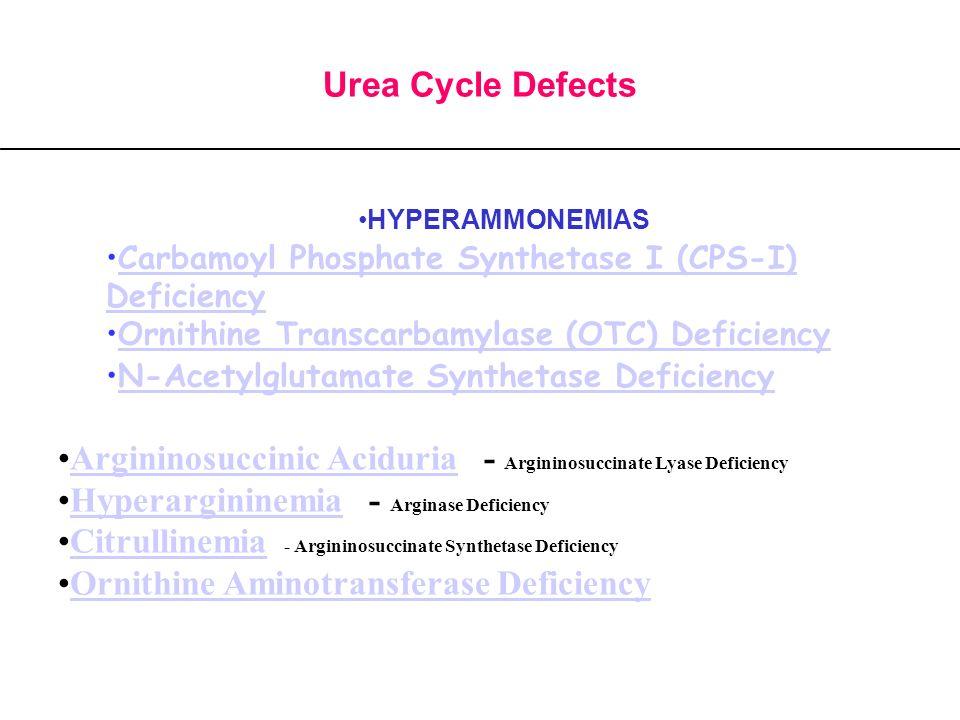 Argininosuccinic Aciduria - Argininosuccinate Lyase Deficiency