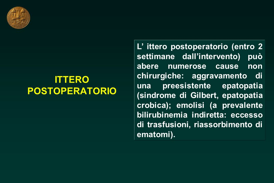 ITTERO POSTOPERATORIO
