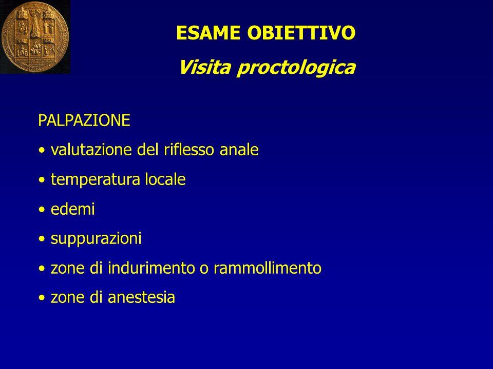ESAME OBIETTIVO Visita proctologica