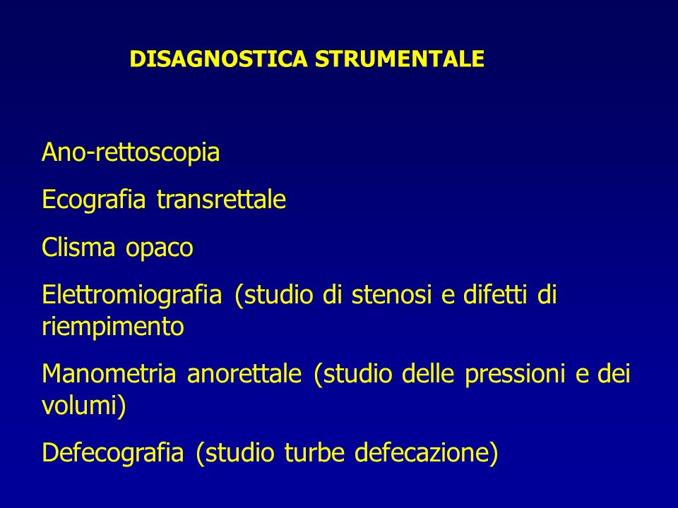 DISAGNOSTICA STRUMENTALE