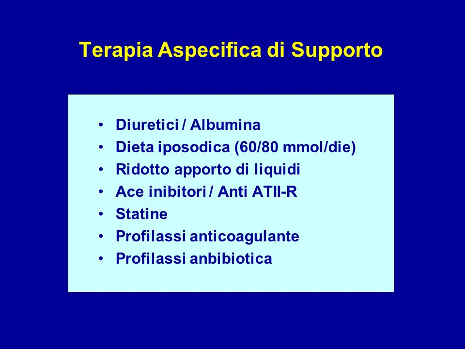 Terapia Aspecifica di Supporto