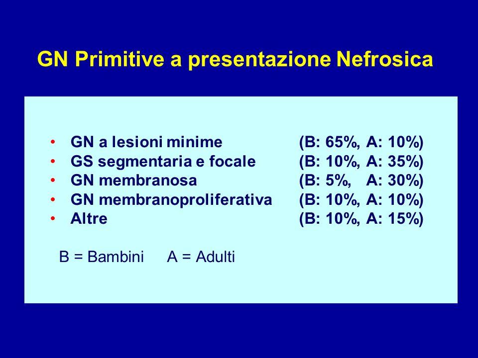 GN Primitive a presentazione Nefrosica