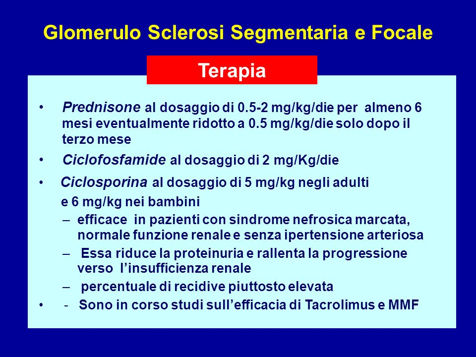 Glomerulo Sclerosi Segmentaria e Focale