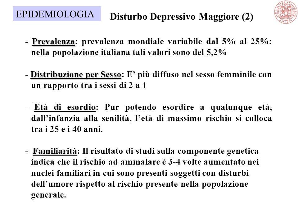 Disturbo Depressivo Maggiore (2)