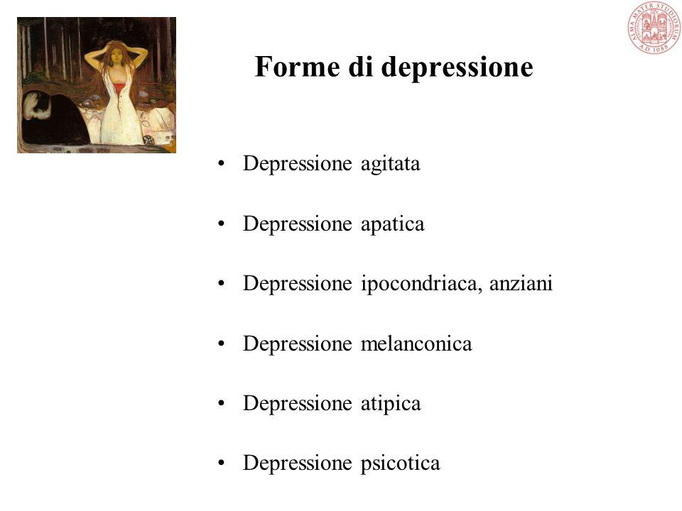 Forme di depressione Depressione agitata Depressione apatica