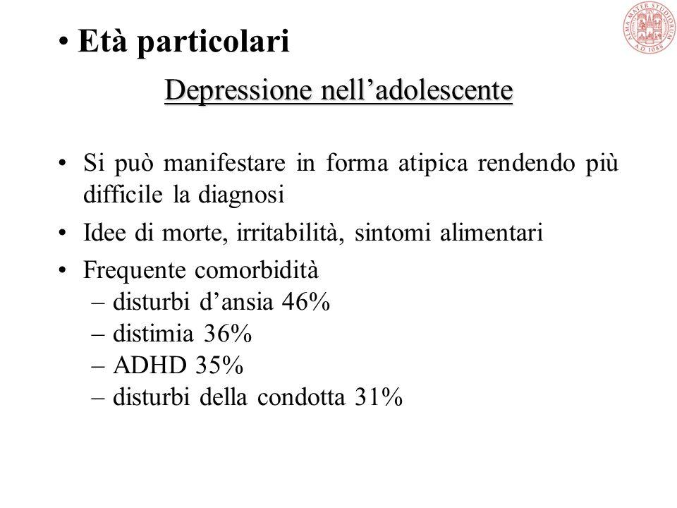 Depressione nell'adolescente
